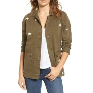 Sincerely Jules Star Embroidered Utility Jacket M